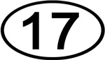 Number 17 Oval (Black)