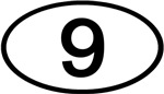Number 9 Oval (Black)