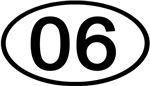 Number 06 Oval (Black)