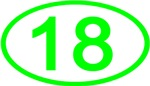 Number 18 Oval (Green)