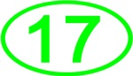 Number 17 Oval (Green)