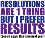 (New Year's) Resolutions vs Results