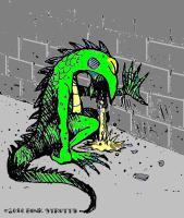 Puking Lizard