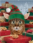 Elf Cat Christmas Cards