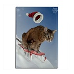 Cat Christmas Magnets
