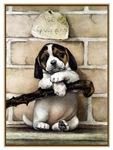VINTAGE PUPPY DOG ART