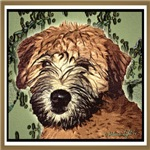 WHEATEN TERRIER: WET PUPPY (GREEN)