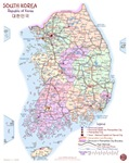 South Korea Detailed Map NEW!
