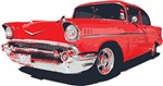 Chevy Bel Air vector illustration