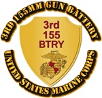 USMC - 3rd 155MM Gun Battery with Text
