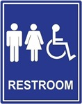Unisex Handicap Restroom without Text