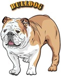 bulldog with text
