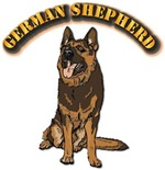 German Shepherd - With Text