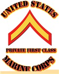 USMC - Private First Class with Text