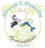 Mermaids and Margaritas | Torpical Cocktail Retro Cutey T-shirts & Gifts