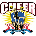 Go Team Cheerleader T-Shirts and Gifts