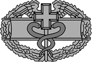 <P>Army Reserve <BR>Combat Medical Badge