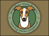I Love My Italian Greyhound (Red)