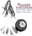 Billiard Sorceress 8, Fantasy Art Gifts For Her