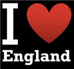 I Love England Dark Tee