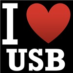 I Love USB Dark Tee