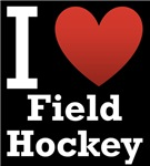 I Love Field Hockey Dark Tee
