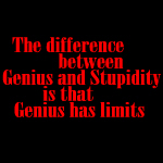Genius and Stupidity.