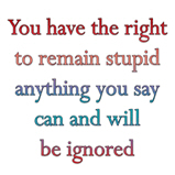 You have the right..