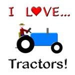 I Love Blue Tractors