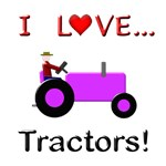 I Love Purple Tractors