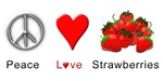 Peace Love Strawberries
