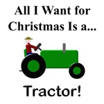 Green Christmas Tractor