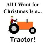 Orange Christmas Tractor