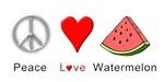 Peace Love Watermelon