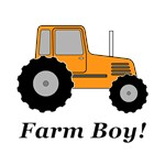 Farm Boy Orange Tractor