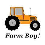 Farm Boy Orange Tractor