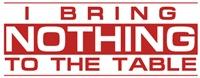 Bring Nothing