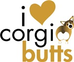I Heart Corgi Butts - Sable