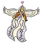 White Ribbon Angel
