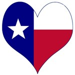 I Love Texas Flag Heart