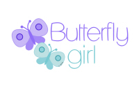 Lavender and Teal Butterfly girl