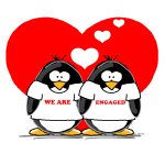 We Are Engaged Penguins