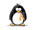 Orange Ribbon Penguin