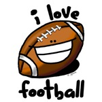 I Love Football smiley