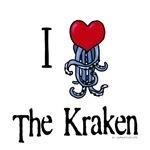 I heart the kraken blue tentacles
