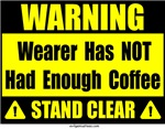 No coffee warning sign