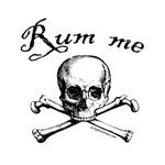 Rum me pirate skull / bones