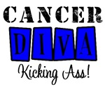 Cancer Diva Kicking Ass T-Shirts & Gifts (Blue)
