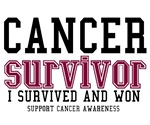 Cancer Survivor T-Shirts (Burgundy)