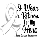 I Wear a Ribbon For My Hero Lung Cancer Shirts